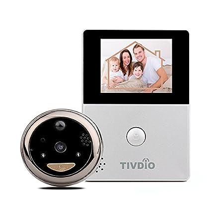 """TIVDIO Mirilla Electrónica WiFi con Pantalla de OLED HD 2.8 """" Monitor de la Puerta"""