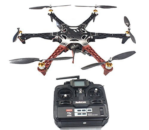 QWinOut Unassembly ARF (No Battery) DIY 2.4G 6Ch QQ Super Flight Control F550 Air Frame RC Hexacopter DIY Multicopter Drone Combo Set