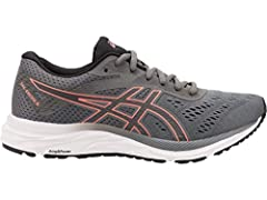 Enjoy the freedom of running on the open road with the women's GEL-EXCITE 6 running shoe, specifically designed to help you go the distance. Featuring GEL technology to the rear for comfort and bounce with every step, this ASICS running shoe ...