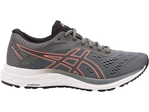 ASICS Women's Gel-Excite 6 Running Shoes, 8.5M, Steel Grey/Papaya