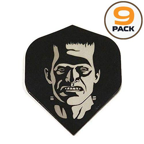 Art Attack 9 Pack Designa Supermetronic Frankenstein Party Monster Halloween 75 Micron Strong Dart Flights -