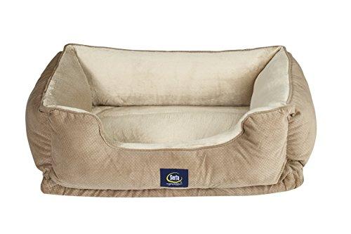 Serta Ortho Cuddler Pet Bed, Tan