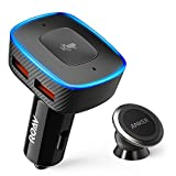 Roav Viva with Car Mount, by Anker, Alexa-Enabled 2-Port USB Car Charger for in-Car Navigation, Hands-Free Calling and Music Streaming (Tamaño: VIVA Combo)