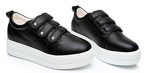 Basse Femme Scratch Confort Rond Bout Aisun Noir Sneakers Plates nz7vWn