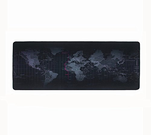 Halomy Gaming Mouse Pad Large Size 800x300x2mm Extended World Map Mouse Mat,Non-Slip Natural Rubber Base,Double Weave Fabric Surface,Tight and Smooth,Gaming Mouse Mat for Any Mouse/Keyboard/Laptop