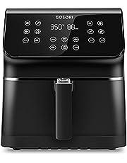 COSORI Air Fryer Pro(100 Recipes), Customizable 10 Presets Large XL 5.8 Quart 1700-Watt Air Fryers Toaster Oven, LED Digital Tilt One-Touchscreen with Preheat, Shake Reminder, Black