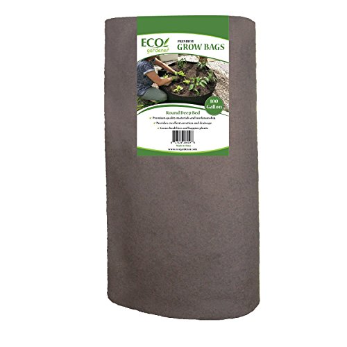 ECOgardener Raised Bed Fabric Planter Grow Bags (100 Gallon Deep Bed) by ECOgardener