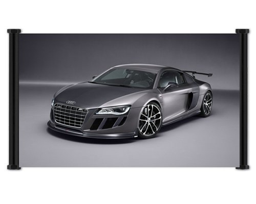 Audi R8 GTR Exotic Car Fabric Wall Scroll Poster  Inches