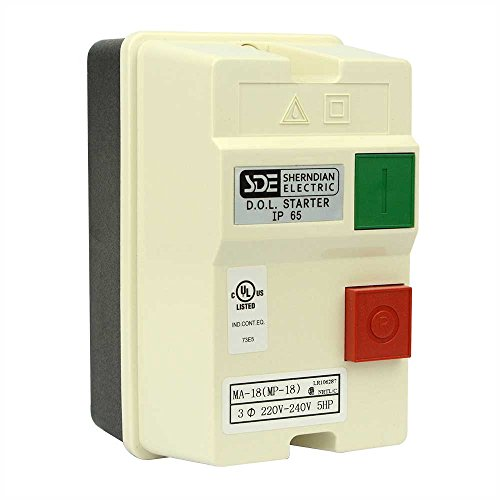 220 3 Phase (Big Horn 18835 3-Phase, 220-240-Volt, 5-HP,12-18-Amp Magnetic Switch)