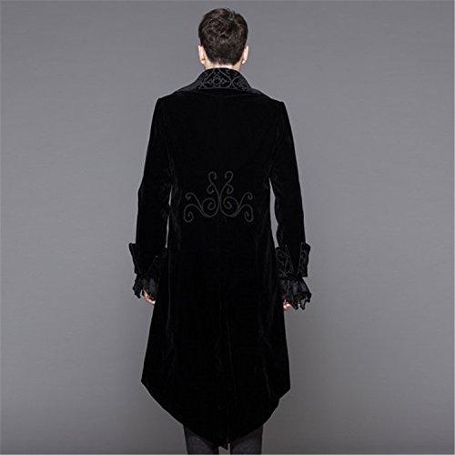 Devil Fashion Herbst und Winter Gothic Performance Lange Punk Fashion Thick Woolen Jacke M?nner, 6 Gr??en
