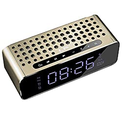 Fly Bluetooth Speaker Portable Overweight Subwoofer Car Alarm Clock Subwoofer Cannon Sound Speaker (Color : Gold)