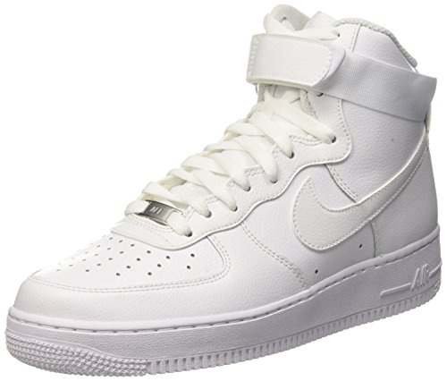 White Shoes Af1 - Nike Men's Air Force 1 High 07 Basketball Sneakers White Size 9.5 D (US)