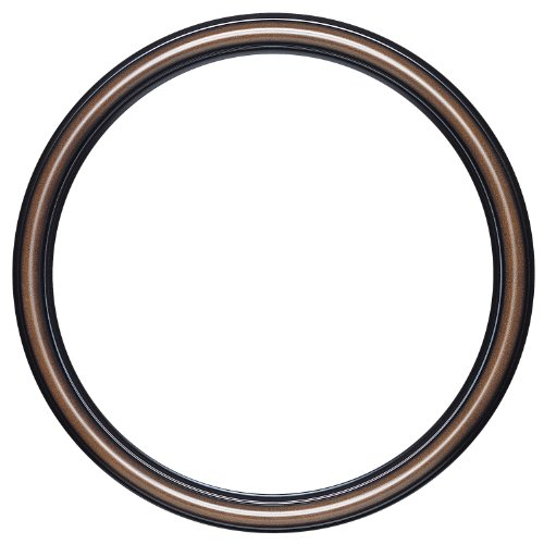 Round Beveled Wall Mirror for Home Decor - Saratoga Style - Walnut - 20x20 outside dimensions