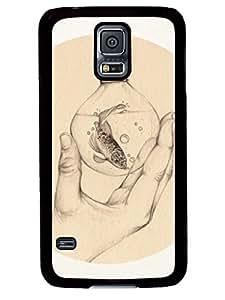 Hot Sell Design Organic V Cute Samsung Galaxy S5 I9600 TPU Black Case Cover