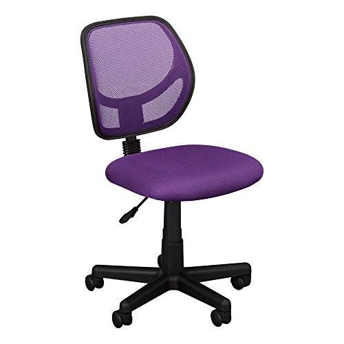 Fat Catalog Colorful Low-Back Mesh Computer Task Chair - Computer Purple Chair