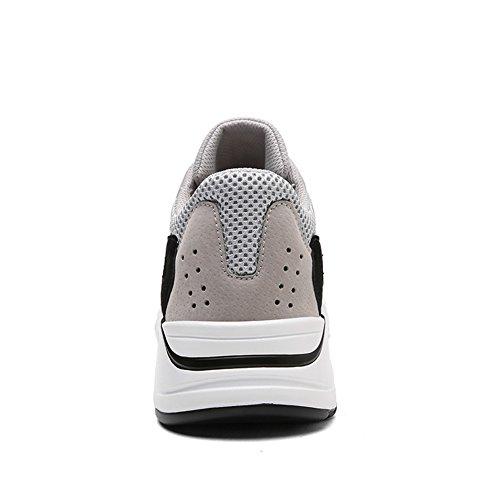 Baskets Air Plein Tulle Chaussures Automne Blanc pour en Hommes Lune C Gris Chaussures Printemps à Sport Course Coussin Air Confort D'été Chaussures Pied Noir 5wOXfx0qx