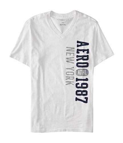 Aeropostale Vertical V Neck Graphic Shirt