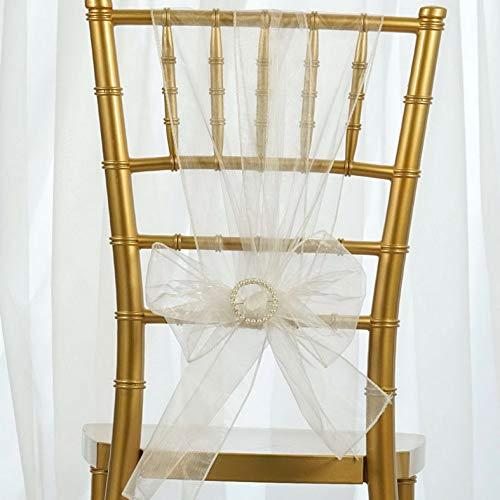 (Mikash 100 Sheer Organza Chair Sashes Bows Ties Wedding Reception Decorations Wholesale | Model WDDNGDCRTN - 17971 |)