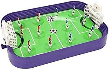 LKNJLL コンパクトなミニ卓上サッカーゲーム - 大人と子供のための15インチテーブルトップフーズボール表