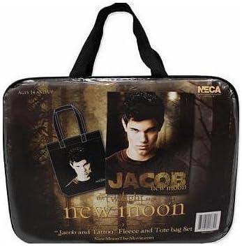 Twilight Saga New Moon Jacob and Tattoo fleece blanket and tote bag set