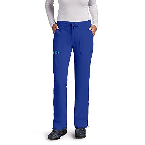 Grey's Anatomy Signature Women's 2207 3 Pocket Low Rise Scrub Pant- Galaxy Blue- Medium