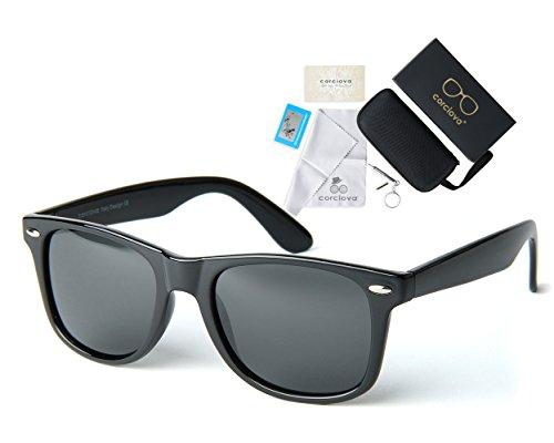 Glasses Black Frame Grey Lens - corciova Reflective Revo Large Horn Rimmed Style Uv400 Wayfarer Sunglasses Black Frame Grey Lens