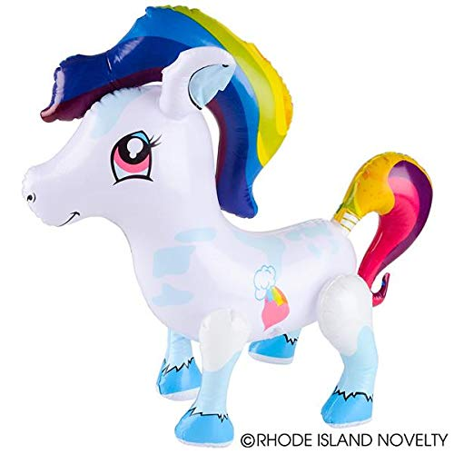 Decoration Party Favor Assorted Colors | Pack of 12 Rhode Island Novelty Large Inflatable Ponies