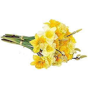MARJON FlowersArtificial Narcissus Daffodil Spring Flower Bunch 43
