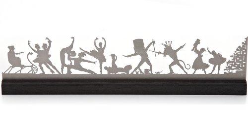 Nutcracker Mantle Scene in Stainless Steel by Tansu