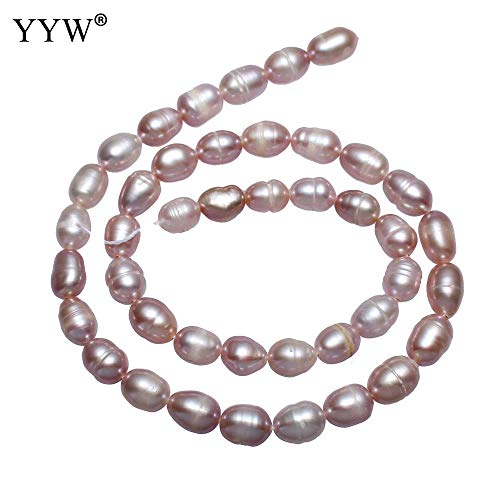 Calvas 6-7mm Cultured Potato Freshwater Pearl Beads Wholesale Jewelry Accessories Natural Purple Bead for Necklace Bracelet