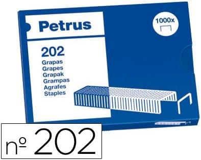 Petrus 202/ /Confezione di 1000/punti metallici 20/fogli 4/mm