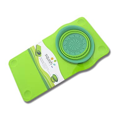 Squish Over The Sink Cutting Board, Green
