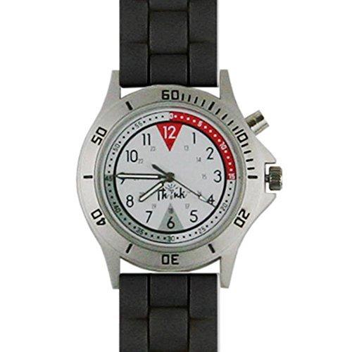 Think Medical Unisex Braided Silicone Glow Watch (Black)