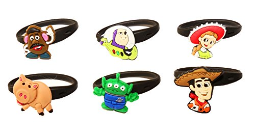 AVIRGO 6 pcs Releasable Ponytail Holder Elastic Rubber Stretchable No-slip Hair Tie Set # 108-6 (Slinky Dog Toy Story Costume)