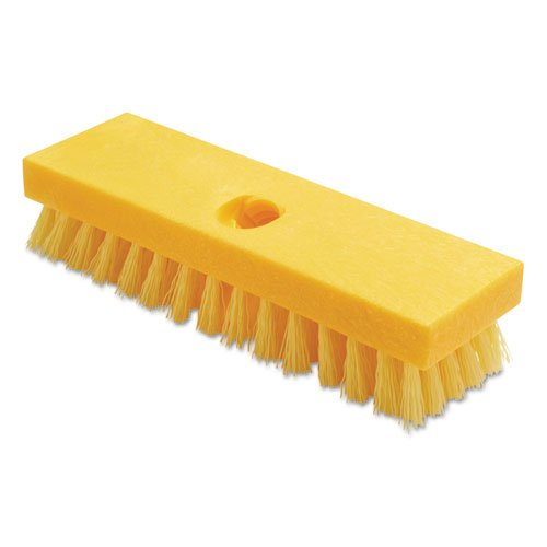 Deck Yel (Rubbermaid Commercial Deck Brush, Polypropylene Palmyra Fibers, 9