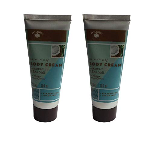 Coconut Oil and Sea Salt Moisturizing Body Cream- Cruelty Free, No Artificial Dyes or Parabens- Pack of 2