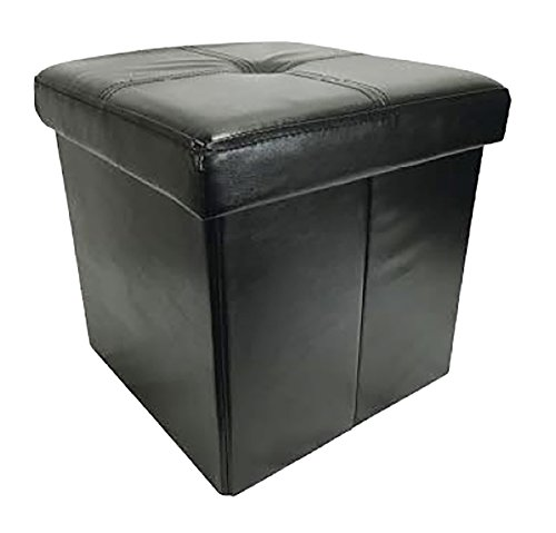 Cheap Wee's Beyond 1532-UBK 15″ Collapsible Storage Ottoman, 15 x 15 x 15, Black