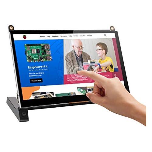 chollos oferta descuentos barato Raspberry PI Monitor de Pantalla Táctil UPERFECT Monitor Portátil IPS HDMI Pantalla de Visualización Altavoces Dobles Incorporados para Proyecto Raspberry Pi 4 3 B DIY 7 Pulgadas