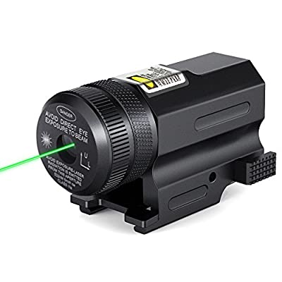 CISNO Tactical Green Laser Sight Scope for Gun Pistol with Quick Release Weaver Mount