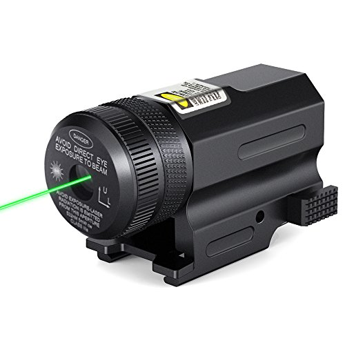 CISNO Tactical Green Laser Sight Scope for Gun Pistol with Quick Release Weaver Mount (Custom Sight Rail)