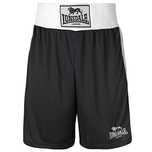 Da Boxe bianco Pantaloni Wear Sportivi Gym Nero pantaloncini Allenamento Lonsdale OH5tqgwx