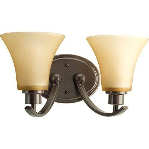 Progress Lighting P2001-20 Joy Collection 2-Light Vanity Fixture, Antique Bronze