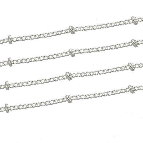 16Ft Silver Plated Curb Link Chain 5 Meters Silver Plated Copper ODSF-11427