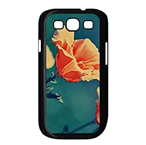 Orange Flowers Watercolor style Cover Samsung Galaxy S3 I9300 Case (Flowers Watercolor style Cover Samsung Galaxy S3 I9300 Case)