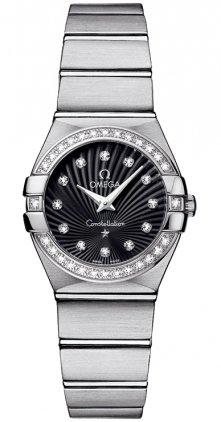 Omega 123.15.24.60.51.001 Constellation Women's Diamonds 24MM Watch