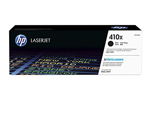 HP 410X (CF410X) Toner Cartridge, Black High Yield for HP Color LaserJet Pro M452dn, M452dw, M452nw, MFP M377dw, MFP M477fdn, MFP M477fdw, MFP M477fnw by HP