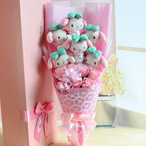 (GuGuDas Toy Cute My Melody Hello Kitty Animal Flower Bouquet Creative Child Gifts (B (with Box)))