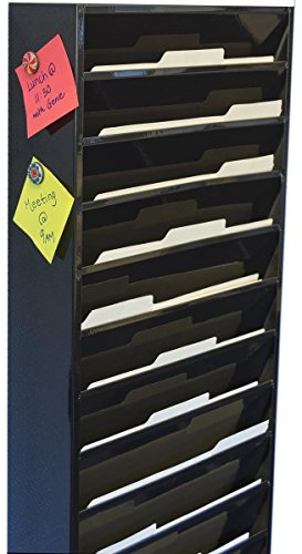 Displays2go File Folder Wall Rack With 11 Tiered Pockets