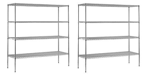 2 Adjustable Wire Shelves - 6