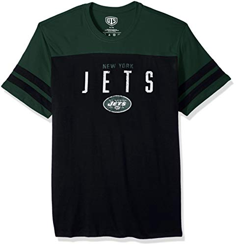 (NFL New York Jets Men's OTS Cotton Yoke Stripe Tee, Washington, X-Large )